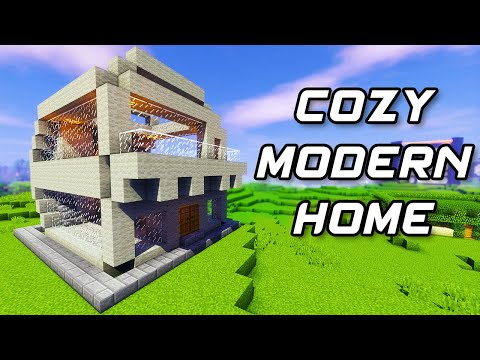 Minecraft Tutorial #13 - How to Build a Cozy Modern Home (HD)