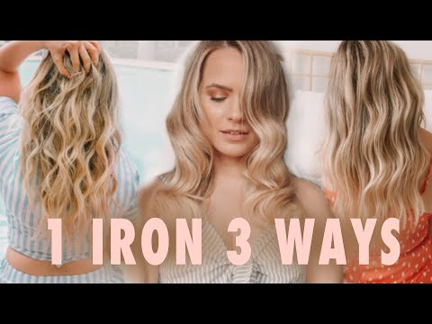 1 Curling Iron 3 Totally Different Curls & Waves - Kayley Melissa - YouTube