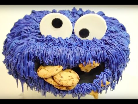 how to make a COOKIE MONSTER CAKE!   Its A Piece Of Cake