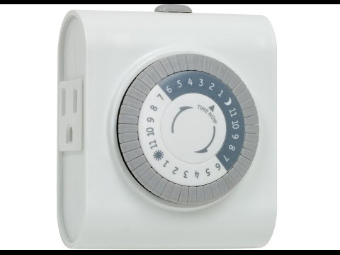 GE 24 Hour Plug In Heavy Duty Indoor Mechanical Timer