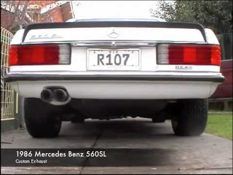 Mercedes benz 560sl custom exhaust youtube for Mercedes benz exhaust