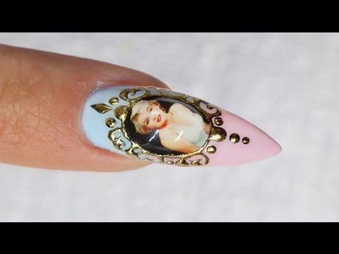 Liquid Jewel Nail Art with Sticker