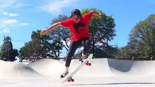 Learning to Skateboard :D (I DID MY FIRST OLLIE!!)