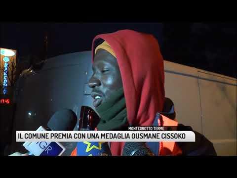 TG PADOVA (30/01/2019) - IL COMUNE PREMIA CON UNA MEDAGLIA OUSMANE CISSOKO
