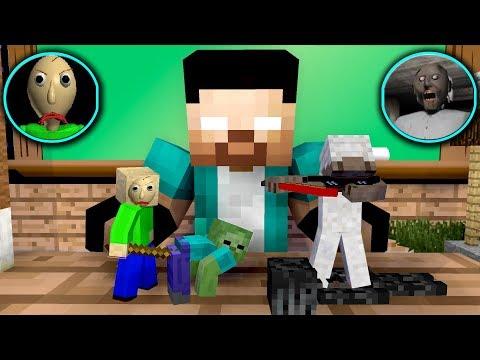 Monster School Tiny Baldi Vs Tiny Granny Challenge - Minecraft Animation