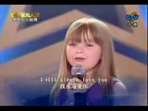 Connie Talbot   I will always love you LIVE niña cantante