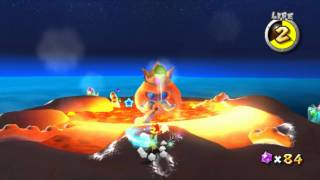Super Mario Galaxy - Boss 2 - King Kaliente - Full-HD (1080p) Dolphin Nintendo Wii Emulator