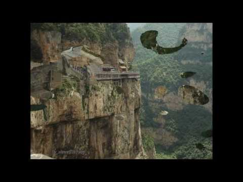 Buddhist Temple in Northern China. Temple Suspended/Built in the Mountains.