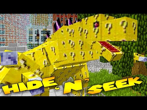 Minecraft Mods - MORPH MOD HIDE AND SEEK - LUCKY BLOCK MOBZILLA ( Modded Minigame)