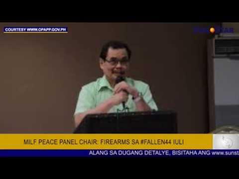 MILF peace panel chair: Firearms sa #Fallen44 iuli