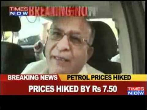 Petrol prices hiked by Rs 7.50 per litre - Video   The Times...