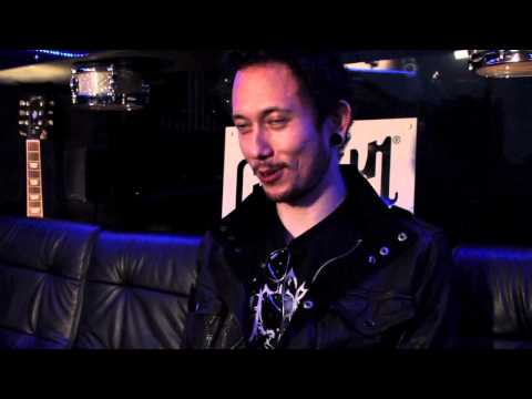 Matt Heafy from Trivium talking to Gibson Backstage at Rock am Ring 2012