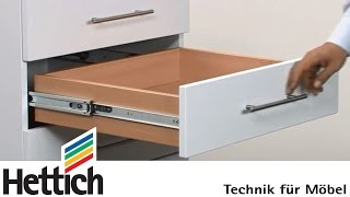 General information on ball-bearing full extension runners: Do-It-Yourself with Hettich