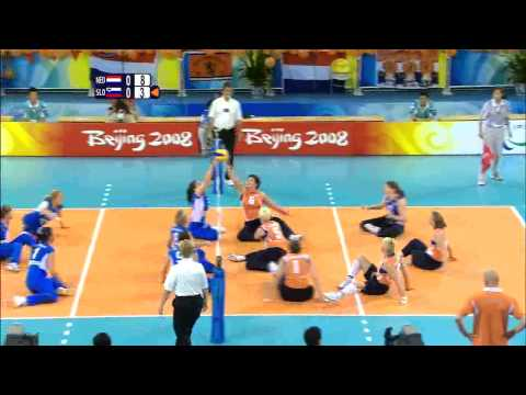 Women's Sitting Volleyball bronze medal match (1) - Beijing 2008 Paralympic Games