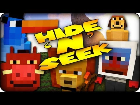 Minecraft Mods - MORPH MOD HIDE AND SEEK - KING OF THE JUNGLE! (LionKing / Morph Mod)