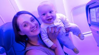 BABY FLYING IN A SPACESHIP!