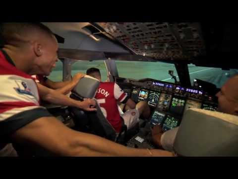 A380 Flight Simulator Challenge - England | Arsenal | Emirates