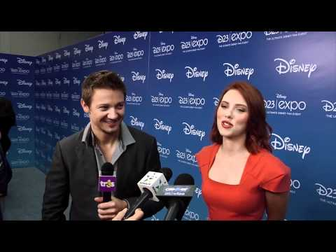 Jeremy Renner & Scarlett Johansson Talk 'The Avengers' At Disney D23 Expo