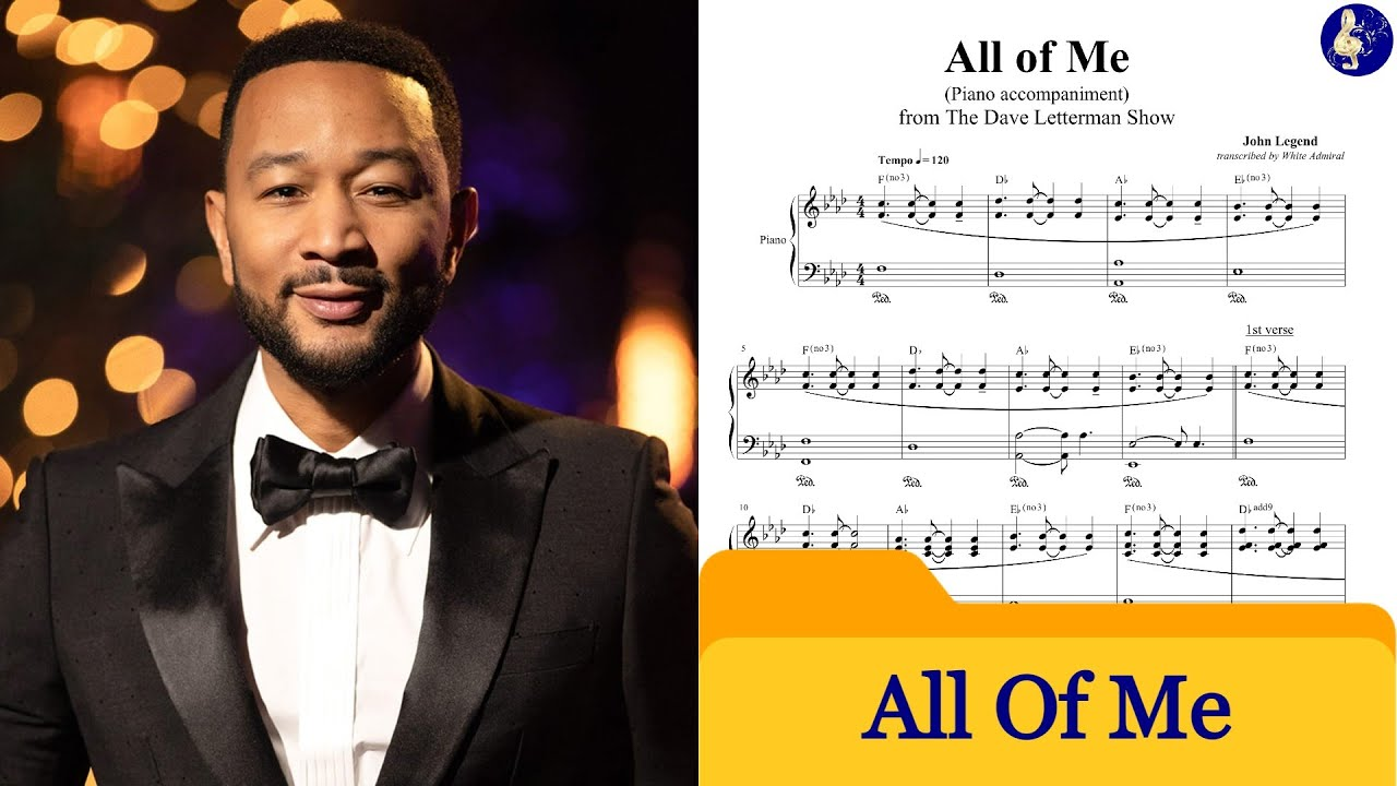 how to play all of me on piano easy chords