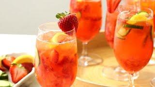 Strawberry-Cucumber Gin-Elderflower Spritz - Martha Stewart