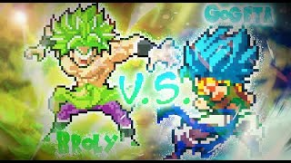 Gogeta vs Broly | Sprite Animation