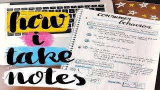 ✏️ TRÂN ĐÃ TAKE NOTES NHƯ THẾ NÈO 😋 How I (Usually) Take Notes 💕 | Diane Le