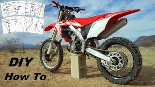 How to 2017 CRF450R Restyled 2005 CRF 450 / 250