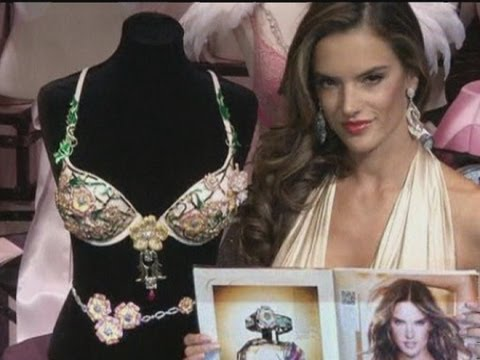 Victoria's Secret $2.5m jewel-encrusted bra modelled by Alessandra Ambrosio