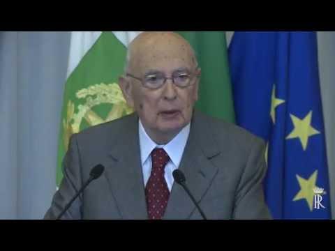 Expo 205 Giorgio Napolitano Video Discorso al Quirinale
