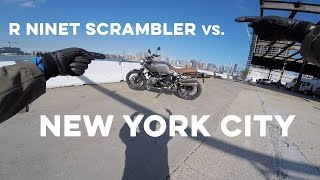 MC Commute - 2017 BMW RnineT Scrambler Review in New York City!