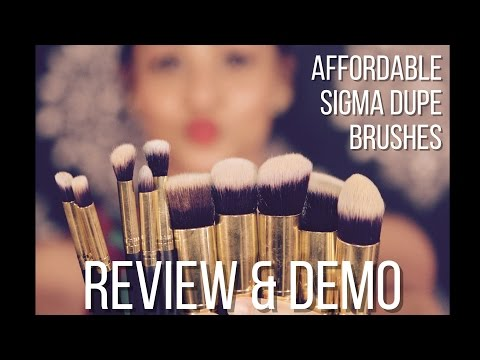 BS MALL BRUSHES REVIEW & DEMO + 20% OFF CODE/SIGMA BRUSHES DUPES BY AARTI JOVEL
