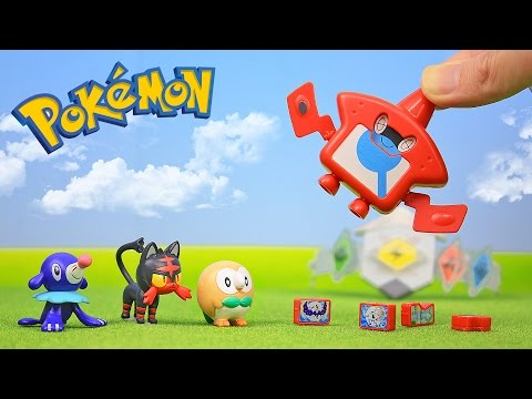 Pokemon Sun and Moon Toys Rotom Pokedex Z-Ring Unboxing