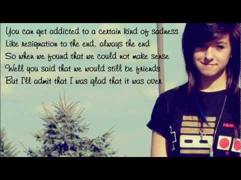 Christina Grimmie - Somebody That I Used To Know / with lyrics on screen Music Videos
