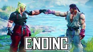 Street Fighter 5 - Story ENDING Walkthrough PART 6 @ 1080p (60fps) HD ✔