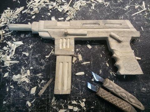 Как сделать пистолет пулемет своими руками Резьба