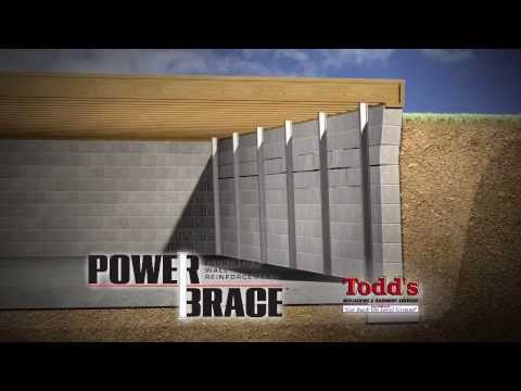 Todds Mudjacking PowerBrace for Cracked & Bowed Basement Walls