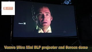 Vamvo Ultra Mini DLP projector and Screen Amazon UK demo