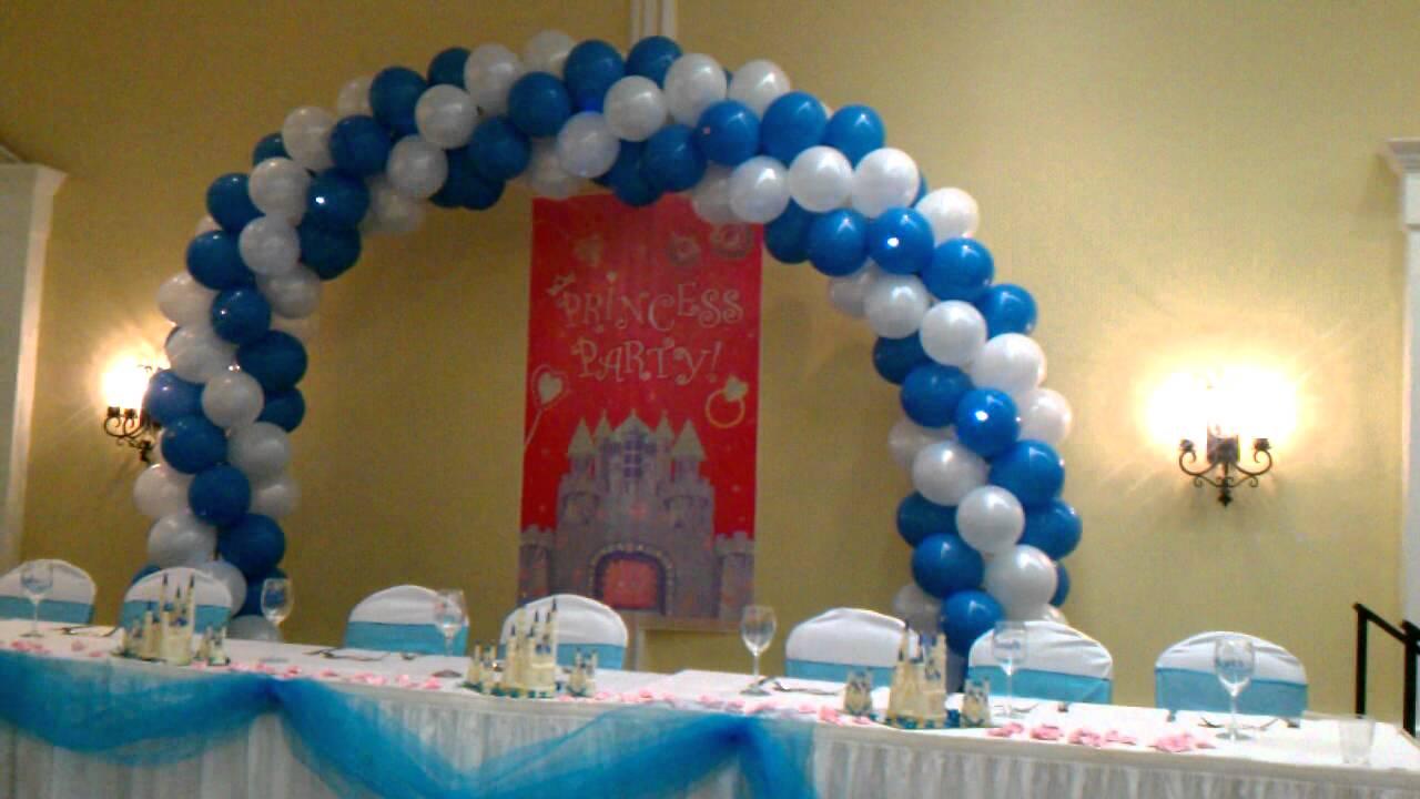 Decoraciones con globos quincea eras youtube for Decoracion de quinceanera