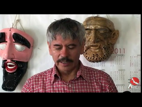 Lino mora creador de máscaras culturales en Naolinco Veracruz