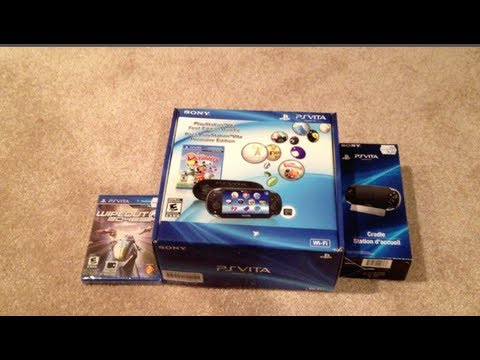 Official Playstation Vita First Edition Bundle Wifi Unboxing And First Impressions