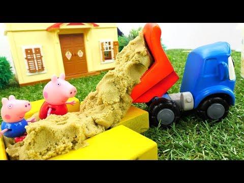 Грузовичок Лева и Свинка Пеппа - Строим песочницу