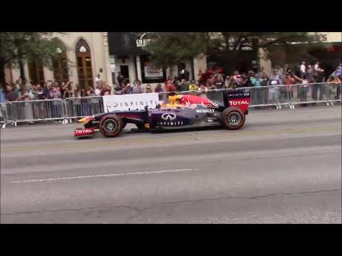 F1 Downtown Austin RB7 FlyBys Ricciardo