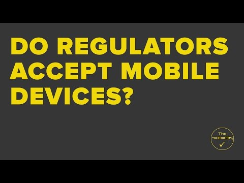 Do regulatory bodies accept inspections performed on mobile devices?