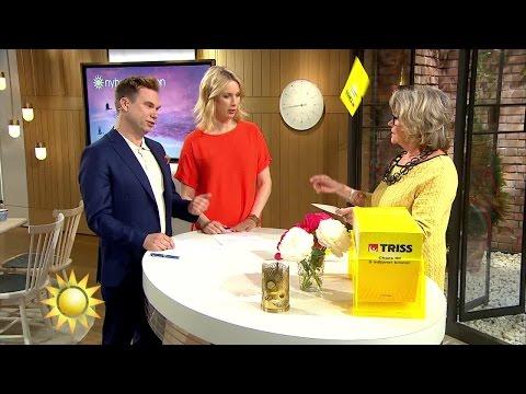 """Här kastar trissvinnaren lotten: """"Det gäller att bjuda på en show"""" - Nyhetsmorgon (TV4)"""
