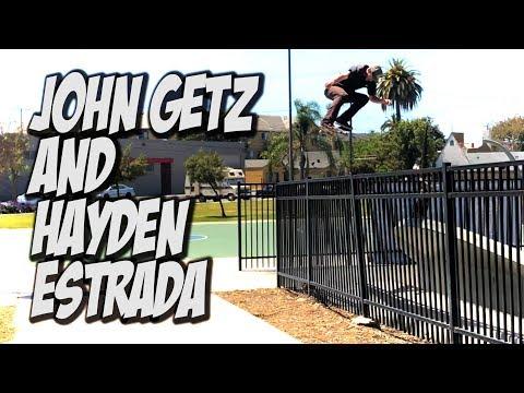 JOHN GETZ AND HAYDEN ESTRADA SKATE LBC AND MORE !!! - NKA VIDS -