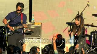 Mizo rock band sings at music carnival festival, Aizawl