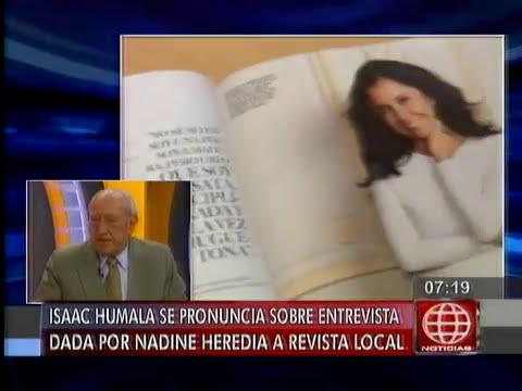 América Noticias: Isaac Humala asegura que Nadine Heredia