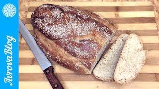 Простой рецепт белого хлебушка из сдобного теста на закваске