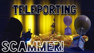 Teleporting Scammer Gets Scammed For Richest Inventory! In Fortnite Save The World Pve
