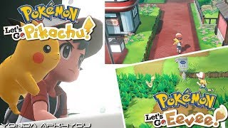 New Pokemon Game! Pokémon Let's Go Pikachu & Let's Go Eevee Little Gameplay